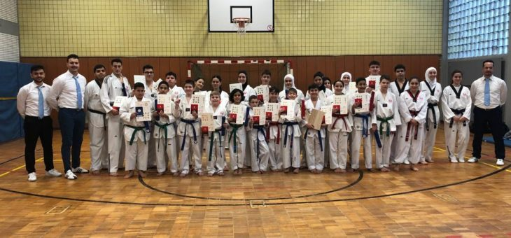 Gürtelprüfung mit 73 Teilnehmern am 7.4.2019